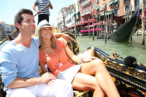 Venise pour son voyage de noces
